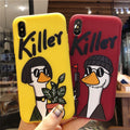 Art Emboss Funny Duck Silicon Phone Case For IPhone 7 Cute Cartoon Soft Candy TPU Cover For Iphone X 8 XS MAX XR 6S 6 Plus Cases