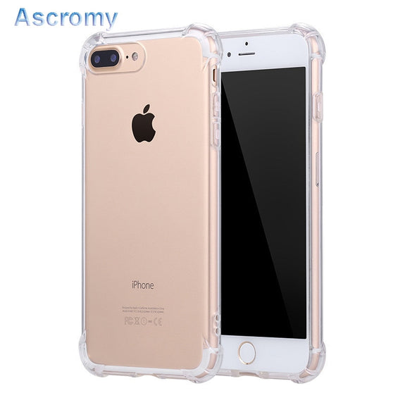 ad5e2ead902 Ascromy Silicone Clear TPU Case For IPhone 5s SE Cover For IPhone 7 Pl