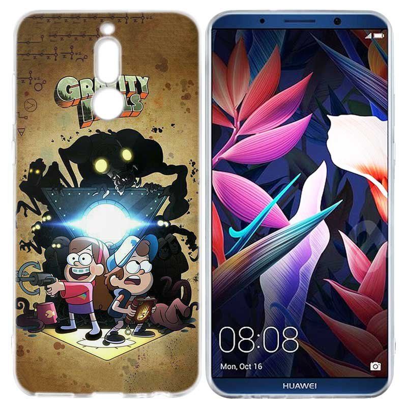 BINYEAE Gravity Falls Silicone Case For Huawei Mate 10 P20 P10 P9 P8 Y6 Y7  Honor 7C 7A 9 10 Lite Pro 2018 Mini 2017