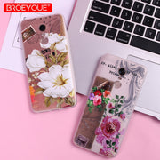 BROEYOUE 3D Relief Soft Case For Redmi Note 4 4X 5 5A 5A Prime Floral Matte Fashion Flower Ultra Thin Case For Redmi 5 Plus Case