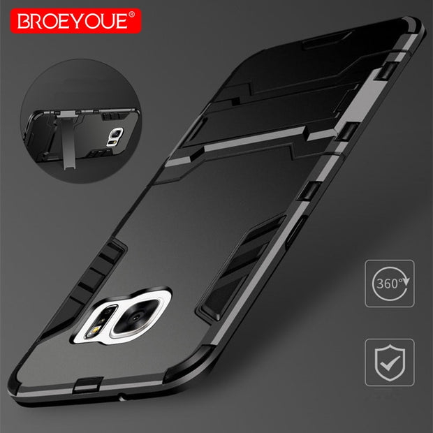 BROEYOUE Case For Samsung Galaxy J3 J5 J7 Pro A3 A5 A7 2016 2017 Armor Cases For Samsung J3 J5 J7 2016 2017 Hybrid TPU PC Case