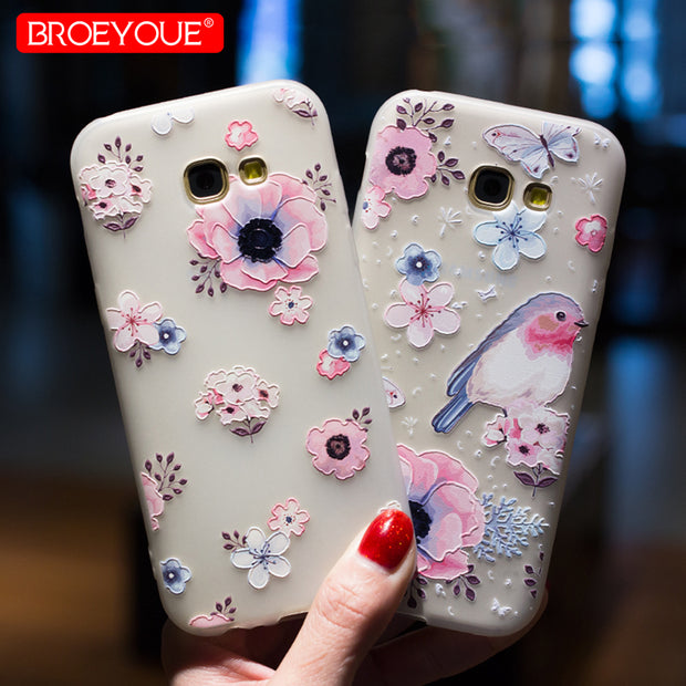 BROEYOUE Case For Samsung S7 Edge S8 Edge Plus A3 A5 A7 J3 J5 J7 2017 2016 J7 J5 J3 J2 Prime Note 8 5 3 4 Soft TPU Cases Cover