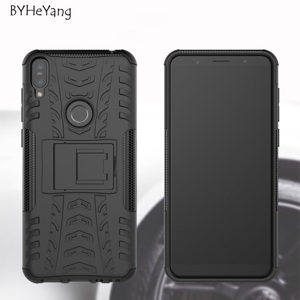 BYHeYang For Asus Zenfone Max Pro M1 ZB602KL Case ShockProof TPU +PC Phone Stand Armor Case For Zenfone Max Pro M1 ZB601KL Cover