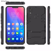 BYHeYang For BBK Vivo V9 Case VIVO Y85 Armor Case Shockproof Robot Silicone Rubber Hard Back Phone Cover For Vivo V9 Y85 Fundas