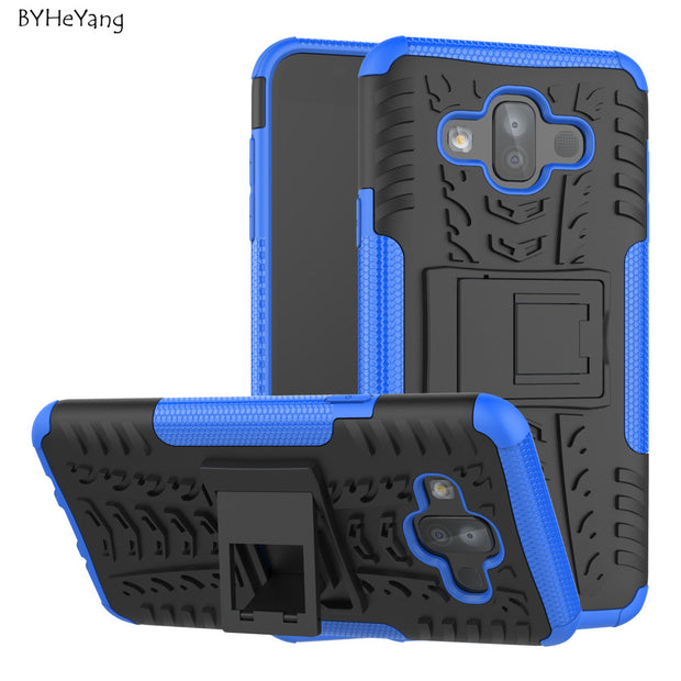 BYHeYang For Coque Samsung Galaxy J7 Duo Case PC & TPU Hybrid Kickstand Back Cover Armor Case For Samsung J7 Duo 2018 J720F Capa