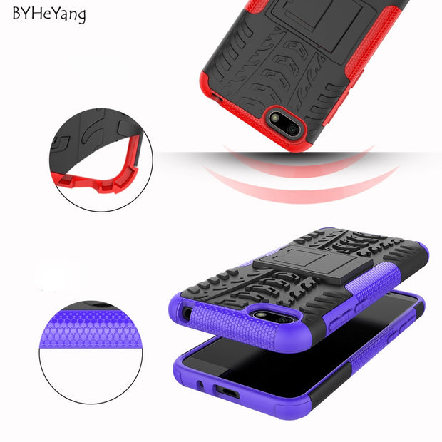 BYHeYang For Huawei Y5 2018 Case Y5 2018 Cover Tough Rugged Hybrid Heavy Duty Armor Cover For Fundas Huawei Y5 Prime 2018 Cases