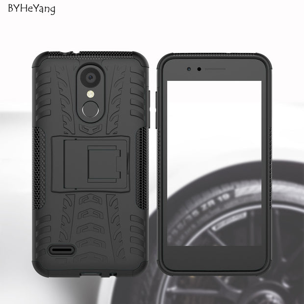 BYHeYang For LG K8 2018 Case For LG K8 2018 Cover Silicone Tough Rugged Hybrid Heavy Duty Armor Cover For LG K8 2018/LG K9 Case