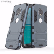 BYHeYang For Motorola Moto G6 Case Hybrid TPU Armor Shockproof Stand Silicone Back Cover For Moto G6 Cover For Moto G6 Fundas