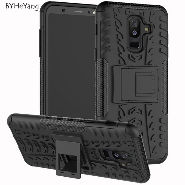 BYHeYang For Samsung Galaxy A6 2018 Case A6 2018 Coque ShockProof TPU +PC Phone Stand Case For Samsung Galaxy A6 Plus 2018 Cover