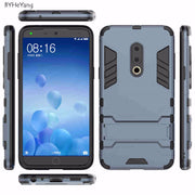 BYHeYang For Meizu 15 Cases Meizu 15 Coque 5.46 Inch Shockproof Robot Armor Slim Hard Back Rubber Case For Meizu 15 Phone Cover