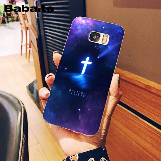 Babaite Bible Verse Philippians Jesus Christ Christian Soft Phone Case For Samsung S9 S9 Plus S8 S8plus S7 S6 S5 Mobile Cases