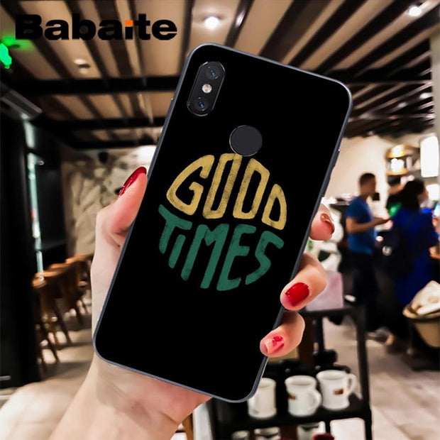 Babaite Cool Quotes Every Thing Will Be Ok Black Soft Phone Case For Xiaomi Mi 6 Mix2 Mix2S Note3 8 8SE Redmi 5 5Plus Note4 4X 5