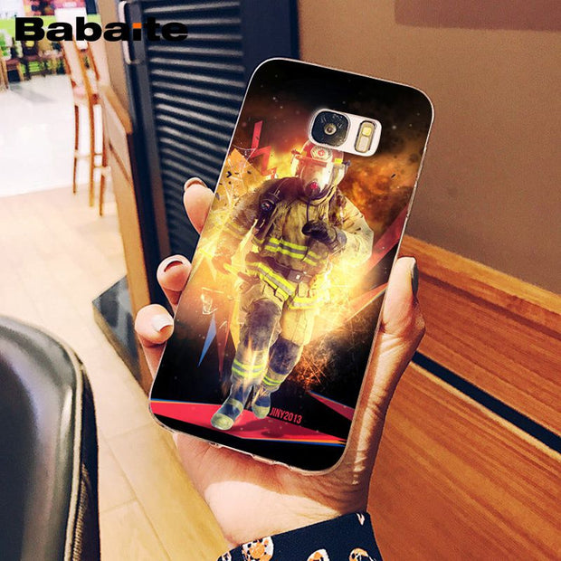 Babaite Firefighter Heroes Fireman Novelty Fundas Phone Case Cover For Samsung S8 Plus S8 S9 Plus S9 S7 Edge S6edge Plus