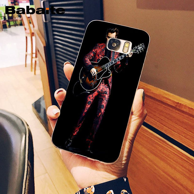 Babaite Harry Styles Treat People With Kindness Transparent Phone Case For Samsung S9 S9 Plus S8 S8plus S7 S6 S5 Mobile Cases