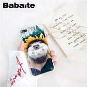 Babaite Hedgehog Cute In Teacup Animal Art Custom Photo Soft Phone Case For IPhone 6S 6plus 7 7plus 8 8Plus X Xs MAX 5 5S XR 10