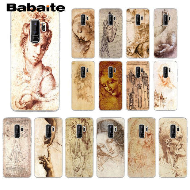Babaite Italy Leonardo Da Vinci Art Work Painting Phone Case For Samsung S6edge S6 Edge Plus S7 Edge S7 S8 S9 Mobile Cover