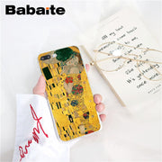 Babaite Kiss By Gustav Klimt Customer High Quality Phone Case For IPhone 8 7 6 6S Plus X XS MAX 5 5S SE XR 10 Fundas Capa