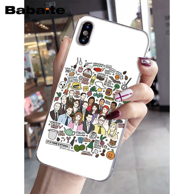 Babaite Office Funny Humor TV Soft Silicone TPU Phone Cover For IPhone X XS MAX 6 6S 7 7plus 8 8Plus 5 5S XR