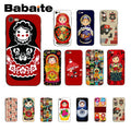 Babaite Russian Matryoshka Dolls Black TPU Soft Silicone Phone Case Cover For IPhone 5 5Sx 6 7 7plus 8 8Plus X XS MAX XR 10 Case