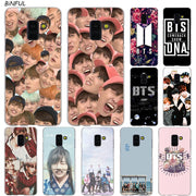 Bangtan Boys BTS Korean Hip Hop Kpo Transparent Case For Samsung Galaxy A3 A5 A9 A7 A6 A8 Plus 2018 2017 2016 Star A6S Note 9 8