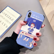 Beily Japan Salmon Case For IPhone XS Max XR X 8 7 6 6S Plus Instagram Japanese Cooking Cartoon Lovely Relief Soft Cover Funda