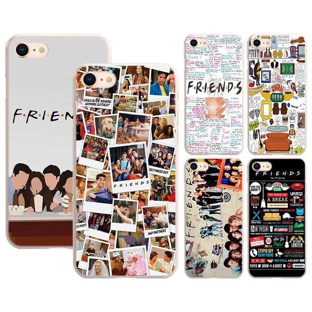Best FRIENDS TV SHOW Pattern Transparent Hard Phone Cover Fundas Coque For  Apple IPhone 7 8 Plus 6 6s Plus X 5 5s 4 4s