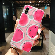 Bigchen Case For Xiaomi Mi 6 8 5X 6X A1 MIX2 Cover Soft Silicone Relief Watermelon Cases For Xiaomi Redmi Note 5 5A Pro 4X Capa