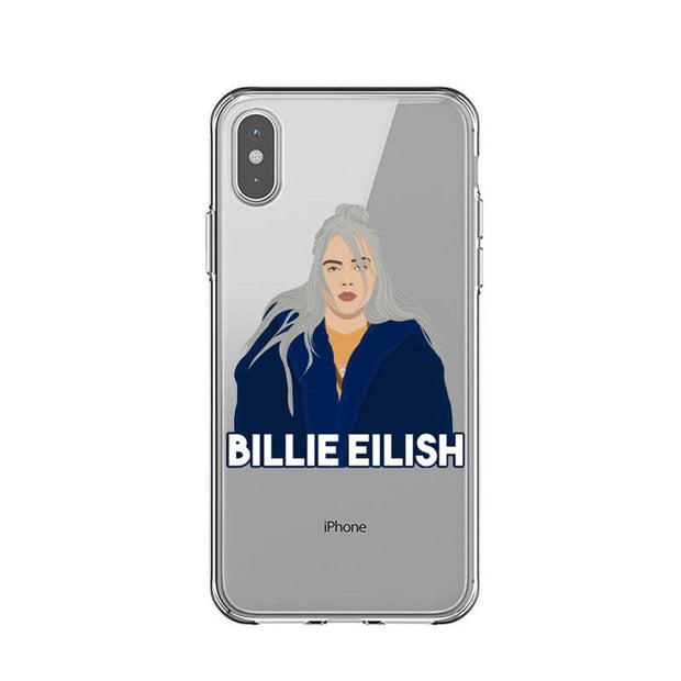 Billie Eilish Rainbow Blohsh Ocean Eyes Clear Soft Back Cover Phone Case For IPhone X 5 5S SE 6 6SPlus 7 7Plus 8 8Plus XR XS MAX