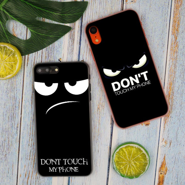 Bitch Don't Touch My Phone Hot Fashion Transparent Hard Phone Cover Case For IPhone X XS Max XR 8 7 6 6s Plus 5 SE 5C 4 4S