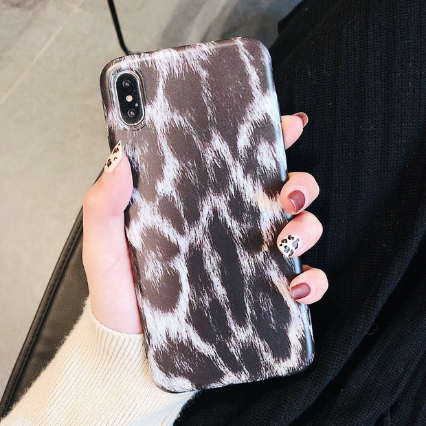 Black Panther Leopard Case For IPhone 6 6S 7 8 Plus Shockproof Matte Frosted TPU Cartoon Case For IPhone XS MAX XR X Back Cover