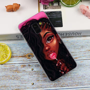 Black Girl Art Unique Luxury Transparent Case For Samsung Galaxy A3 A5 A9 A7 A6 A8 Plus 2018 2017 2016 Star A6S Note 9 8 Cover