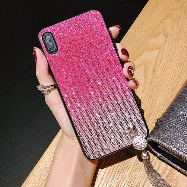 Bling Glitter Gradient Case For Iphone 8 7 6 S 6s Plus X 10 Luxury Soft TPU Cover For Iphone XS Max XR Iphone7 6splus Cases 5 5S
