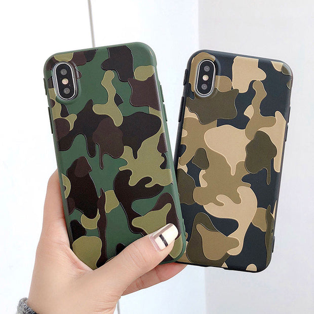 Boucho Retro Cool Army Camouflage Fundas Case For Apple IPhone 5 5S SE XS MAX XR Cover Phone Cases For Iphone 7 6 6S 8 Plus X