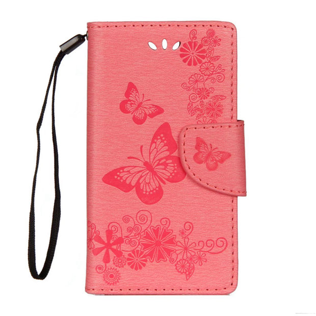 Butterfly Pattern Leather Phone Case For Sony XZ1 Compact Case Flip Case For Sony XZL Mini Phone Bag Capa Shell Stand Wallet Bag
