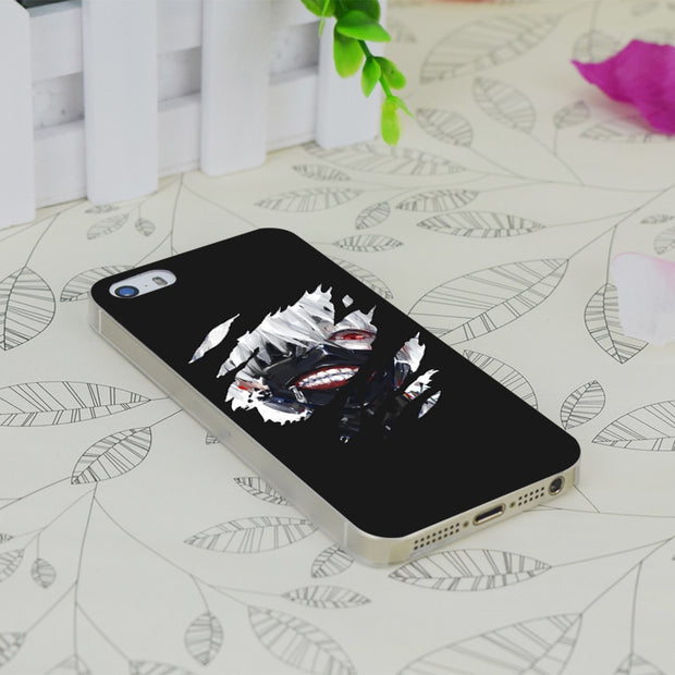 C0101 Kaneki Ken Tokyo Ghoul Transparent Hard Thin Case Skin Cover For Apple IPhone 4 4S 4G 5 5G 5S SE 5C 6 6S Plus