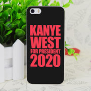 C0105 Kanye West For President Transparent Hard Thin Case Skin Cover For Apple IPhone 4 4S 4G 5 5G 5S SE 5C 6 6S Plus