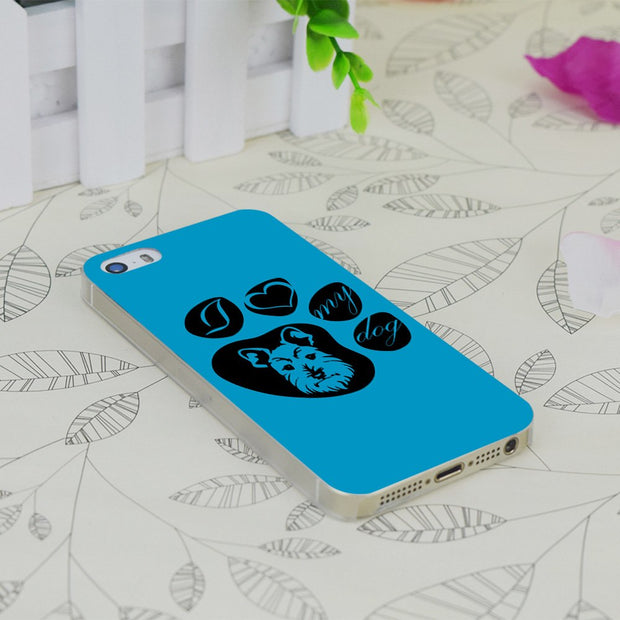 C0343 Love My Schnauzer Transparent Hard Thin Case Skin Cover For Apple IPhone 4 4S 4G 5 5G 5S SE 5C 6 6S Plus