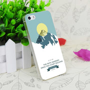 C0577 Mount Everest Yellow Transparent Hard Thin Case Skin Cover For Apple IPhone 4 4S 4G 5 5G 5S SE 5C 6 6S Plus