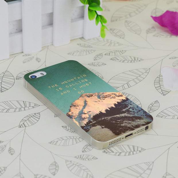 C0578 Mountain Is Calling Transparent Hard Thin Case Skin Cover For Apple IPhone 4 4S 4G 5 5G 5S SE 5C 6 6S Plus