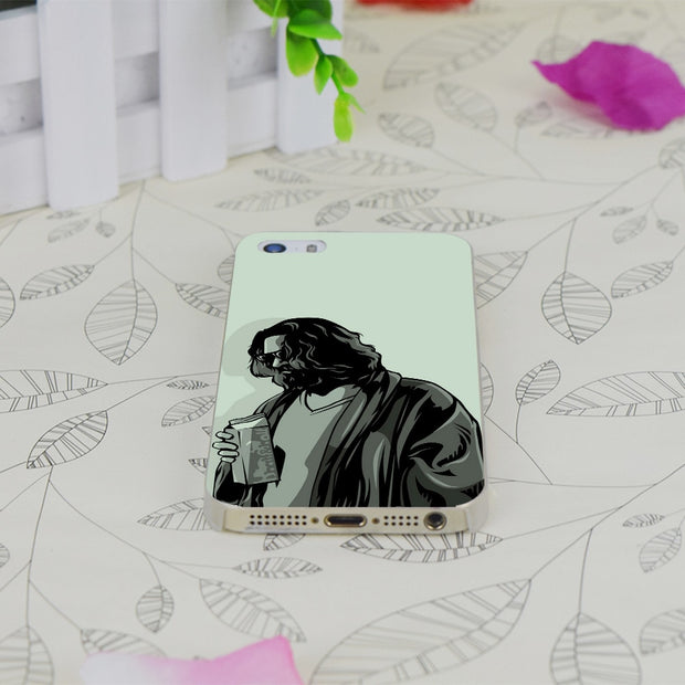 C0584 Movie The Big Lebowski Transparent Hard Thin Case Skin Cover For Apple IPhone 4 4S 4G 5 5G 5S SE 5C 6 6S Plus
