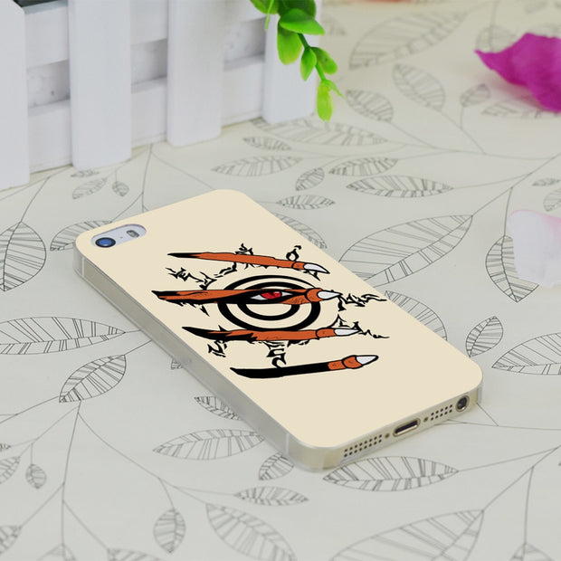C0657 Naruto Nine Tails Transparent Hard Thin Case Skin Cover For Apple IPhone 4 4S 4G 5 5G 5S SE 5C 6 6S Plus