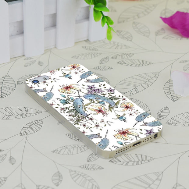 C0659 Narwhal Transparent Hard Thin Case Skin Cover For Apple IPhone 4 4S 4G 5 5G 5S SE 5C 6 6S Plus