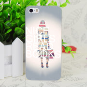 C0709 Nice Girls Read Books Transparent Hard Thin Case Skin Cover For Apple IPhone 4 4S 4G 5 5G 5S SE 5C 6 6S Plus