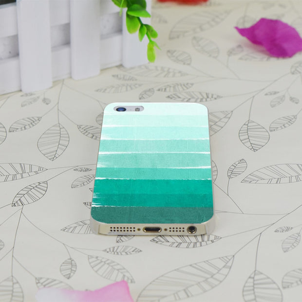 C0807 Ombre Ocean Transparent Hard Thin Case Skin Cover For Apple IPhone 4 4S 4G 5 5G 5S SE 5C 6 6S Plus