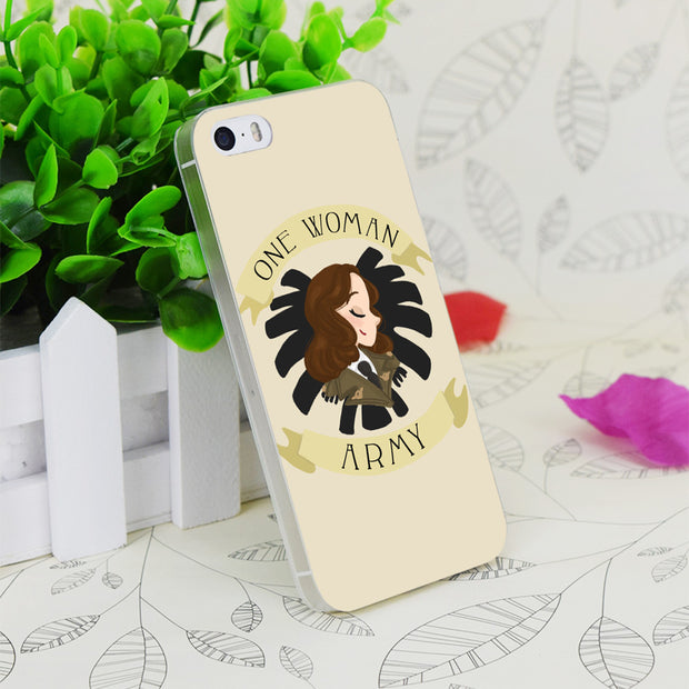 C0830 One Woman Army Transparent Hard Thin Case Skin Cover For Apple IPhone 4 4S 4G 5 5G 5S SE 5C 6 6S Plus
