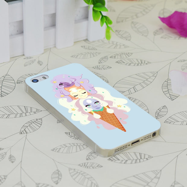 C0839 Opal Ice Cream Special Transparent Hard Thin Case Skin Cover For Apple IPhone 4 4S 4G 5 5G 5S SE 5C 6 6S Plus