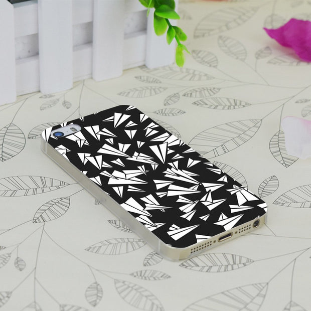 C0889 Paper Plane Stuns Transparent Hard Thin Case Skin Cover For Apple IPhone 4 4S 4G 5 5G 5S SE 5C 6 6S Plus