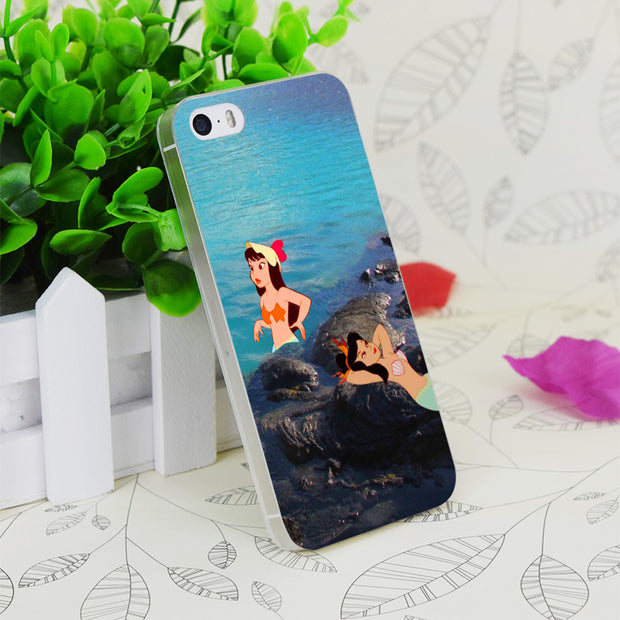 C0947 Peter Pan S Mermaid Lago Transparent Hard Thin Case Skin Cover For Apple IPhone 4 4S 4G 5 5G 5S SE 5C 6 6S Plus