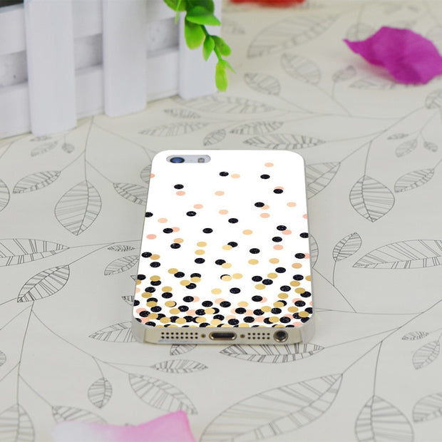 C1021 Polka Dots Transparent Hard Thin Case Skin Cover For Apple IPhone 4 4S 4G 5 5G 5S SE 5C 6 6S Plus