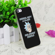 C1213 Rick And Morty Transparent Hard Thin Case Skin Cover For Apple IPhone 4 4S 4G 5 5G 5S SE 5C 6 6S Plus